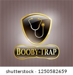 shiny emblem with stethoscope...   Shutterstock .eps vector #1250582659