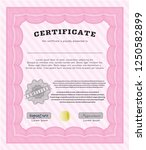 pink sample diploma. with... | Shutterstock .eps vector #1250582899