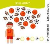 counting educational children... | Shutterstock .eps vector #1250586709