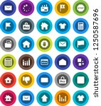 white solid icon set ...   Shutterstock .eps vector #1250587696