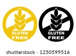 gluten free label vector icons... | Shutterstock .eps vector #1250599516