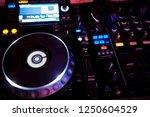 dj sound equipment at... | Shutterstock . vector #1250604529