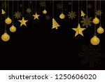christmas golden background of... | Shutterstock .eps vector #1250606020