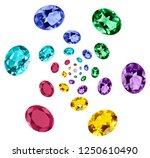 luxury stones carat   Shutterstock . vector #1250610490