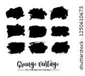 set of black brush stroke and... | Shutterstock .eps vector #1250610673