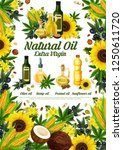 oil of natural products poster... | Shutterstock .eps vector #1250611720