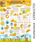 apiary farm infographic for... | Shutterstock .eps vector #1250611723