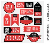 sale label and black friday... | Shutterstock .eps vector #1250622166