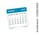calendar august 2019 year in... | Shutterstock .eps vector #1250623069