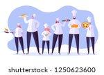 chef characters set. cartoon... | Shutterstock .eps vector #1250623600