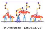 automated assembly line car... | Shutterstock .eps vector #1250623729