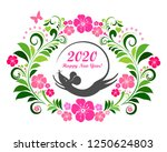 2020 happy new year greeting... | Shutterstock .eps vector #1250624803