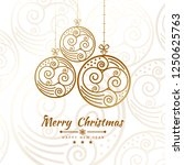 merry christmas getting card... | Shutterstock .eps vector #1250625763