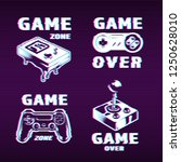 glitch graphic style gaming... | Shutterstock .eps vector #1250628010