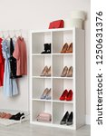 wardrobe shelves with different ... | Shutterstock . vector #1250631376