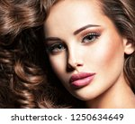 beautiful caucasian woman with  ... | Shutterstock . vector #1250634649