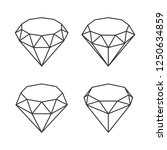 line style diamond crystal set... | Shutterstock .eps vector #1250634859