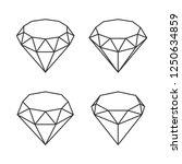 line style diamond crystal set...   Shutterstock .eps vector #1250634859