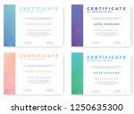 certificate of appreciation... | Shutterstock .eps vector #1250635300