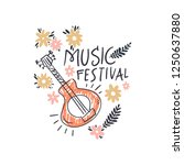 music festival vector... | Shutterstock .eps vector #1250637880