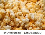 cheese flavour popcorn | Shutterstock . vector #1250638030