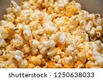 cheese flavour popcorn | Shutterstock . vector #1250638033