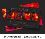 vector fire sale banner... | Shutterstock .eps vector #1250638759