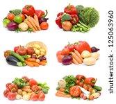fresh vegetables   collage | Shutterstock . vector #125063960