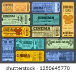 tickets for cinema and movie... | Shutterstock .eps vector #1250645770