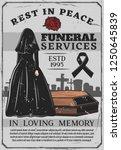 funeral service  interment... | Shutterstock .eps vector #1250645839