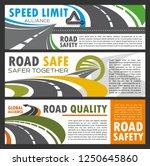 roads and highways navigation ... | Shutterstock .eps vector #1250645860