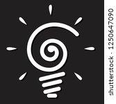 light bulb icon on black...   Shutterstock .eps vector #1250647090