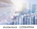 finance and business investment ... | Shutterstock . vector #1250649046