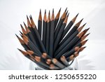 grey pencils in a glass | Shutterstock . vector #1250655220