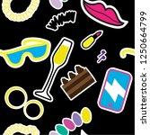 girlish items seamless pattern...   Shutterstock .eps vector #1250664799