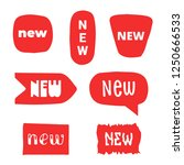 new labels and stickers set.... | Shutterstock .eps vector #1250666533