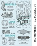 seafood menu template for... | Shutterstock .eps vector #1250666779