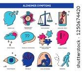 set of alzheimer s disease... | Shutterstock .eps vector #1250674420