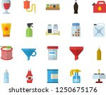 color flat icon set spice flat... | Shutterstock .eps vector #1250675176