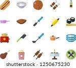 color flat icon set saute flat... | Shutterstock .eps vector #1250675230