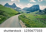 sunny summer view of sedlo pass.... | Shutterstock . vector #1250677333