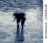 pedestrian under rain   Shutterstock . vector #125068148