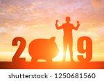 silhouette of business man feel ...   Shutterstock . vector #1250681560