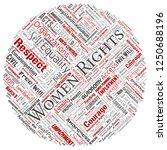 vector conceptual women rights  ... | Shutterstock .eps vector #1250688196