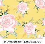 spring yellow pattern with big... | Shutterstock .eps vector #1250688790