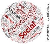 vector conceptual community ...   Shutterstock .eps vector #1250689579