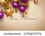 christmas and new year card    Shutterstock . vector #1250692576