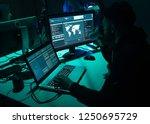 hackers breaking server using... | Shutterstock . vector #1250695729