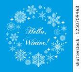 vintage christmas hand drawn... | Shutterstock . vector #1250709463