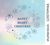 vintage christmas hand drawn... | Shutterstock . vector #1250709466